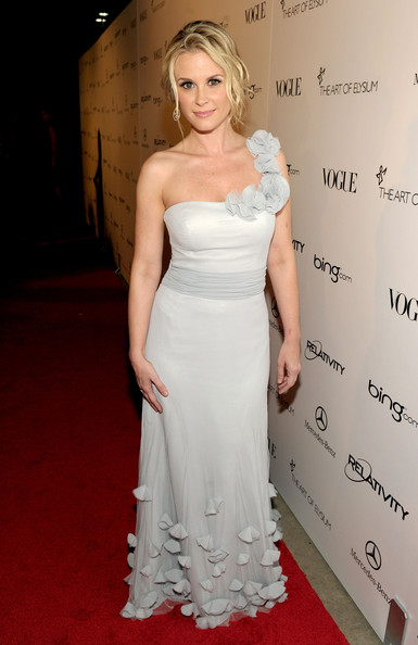"Actress Bonnie Somerville arrives at the 2011 Art Of Elysium ""Heaven"" Gala held at the California Science Center on January 15, 2011 in Los Angeles, California."