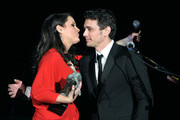 "Actor James Franco (R) receives the Spirit of Elysium award onstage from Art of Elysium Founder Jennifer Howell (L) at the 2011 Art Of Elysium ""Heaven"" Gala held at the California Science Center on January 15, 2011 in Los Angeles, California."