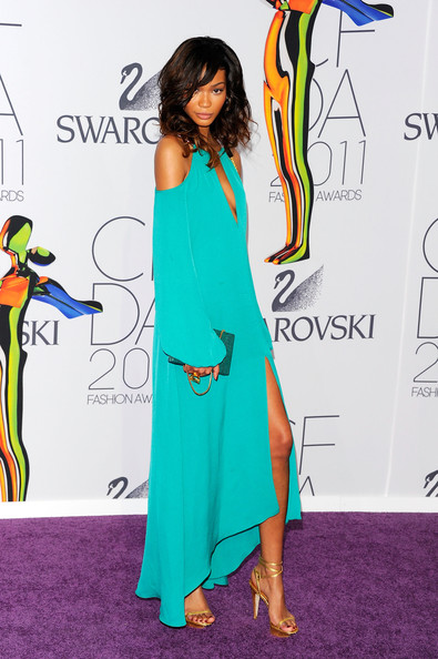 Model Chanel Iman attends the 2011 CFDA Fashion Awards at Alice Tully Hall, Lincoln Center on June 6, 2011 in New York City.