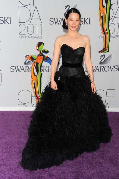 Actress Lucy Liu attends the 2011 CFDA Fashion Awards at Alice Tully Hall, Lincoln Center on June 6, 2011 in New York City.