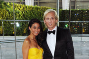Actress Emmanuelle Chriqui (L) and designer David Meister attend the 2011 CFDA Fashion Awards at Alice Tully Hall, Lincoln Center on June 6, 2011 in New York City.