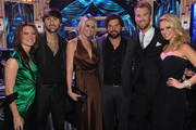 Kelli Cashiola, Honoree Dave Haywood of Lady Antebellum, Sarah Davidson, Dallas Davidson, Charles Kelley and Cassie Kelley attend the 2011 CMT Artists of the year celebration at the Bridgestone Arena on November 29, 2011 in Nashville, Tennessee.
