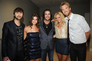 (L-R) Musician Dave Haywood, guest, Jake Owen, Cassie McConnell and musician Charles Kelley attend the 2011 CMT Music Awards at the Bridgestone Arena on June 8, 2011 in Nashville, Tennessee.