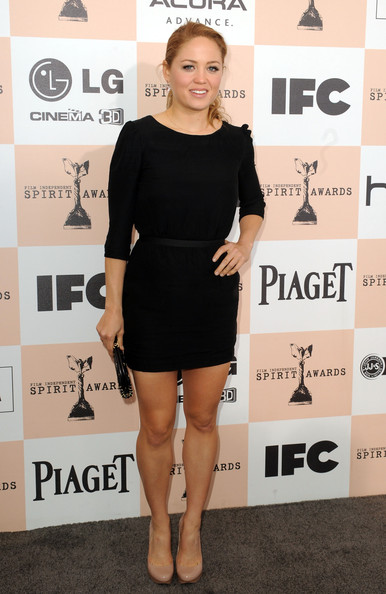 Actress Erika Christensen arrives at the 2011 Film Independent Spirit Awards at Santa Monica Beach on February 26, 2011 in Santa Monica, California.