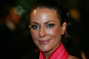 TV personality Esther Anderson arrives on the red carpet ahead of the 2011 Logie Awards at Crown Palladium on May 1, 2011 in Melbourne, Australia.