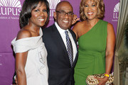 Deborah Roberts, Al Roker and Gayle King attend the 2011 Lupus Foundations Of America Butterfly Gala at The Pierre Hotel on October 11, 2011 in New York City.