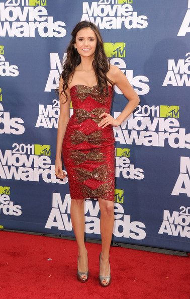 Actress Nina Dobrev arrives at the 2011 MTV Movie Awards at Universal Studios' Gibson Amphitheatre on June 5, 2011 in Universal City, California.