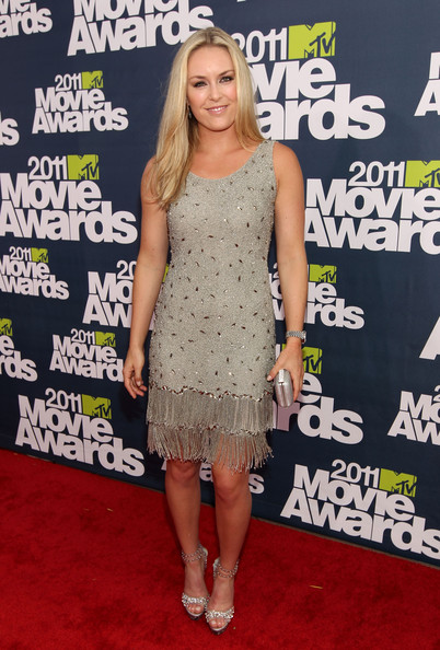 Olympic Gold Medalist Lindsay Vonn arrives at the 2011 MTV Movie Awards at Universal Studios' Gibson Amphitheatre on June 5, 2011 in Universal City, California.