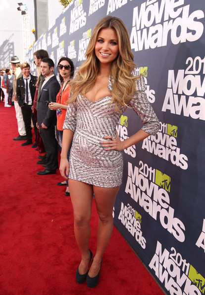 Actress Amber Lancaster arrives at the 2011 MTV Movie Awards at Universal Studios' Gibson Amphitheatre on June 5, 2011 in Universal City, California.