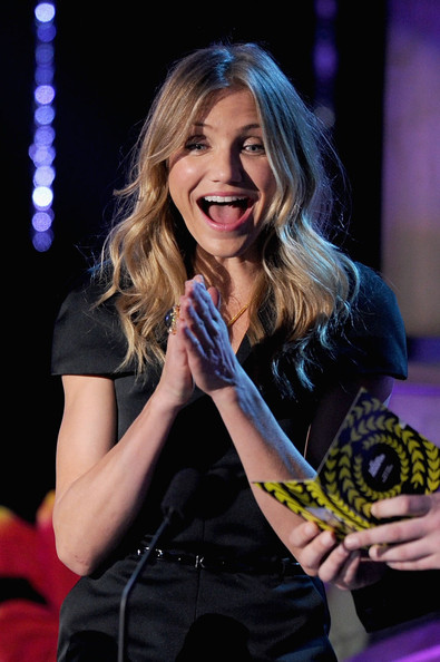 Actress Cameron Diaz speaks onstage during the 2011 MTV Movie Awards at Universal Studios' Gibson Amphitheatre on June 5, 2011 in Universal City, California.