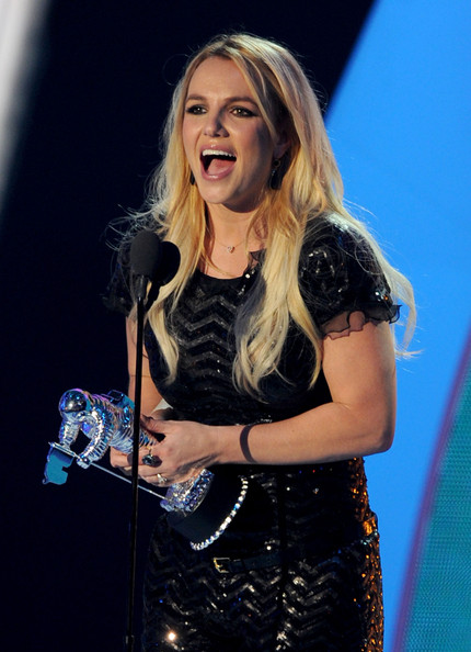 Singer Britney Spears accepts the Best Pop Video award onstage during the 2011 MTV Video Music Awards at Nokia Theatre L.A. LIVE on August 28, 2011 in Los Angeles, California.