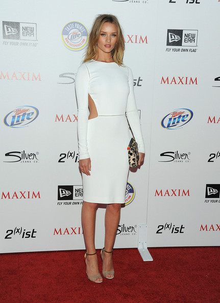 Actress Rosie Huntington-Whiteley arrives at Maxim's Hot 100 Party at Eden on May 11, 2011 in Hollywood, California.