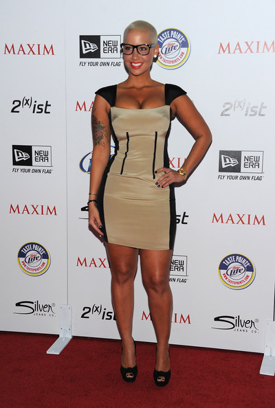 Model Amber Rose arrives at Maxim's Hot 100 Party at Eden on May 11, 2011 in Hollywood, California.