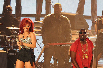 Kanye West Rihanna 2011 NBA All-Star Game - Performances And Celebrities