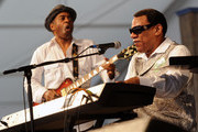 Blues Great Henry Butler (on piano)  performs during the 2011 New Orleans Jazz & Heritage Festival Day 7 at The Fair Grounds Race Course on May 8, 2011 in New Orleans, Louisiana.