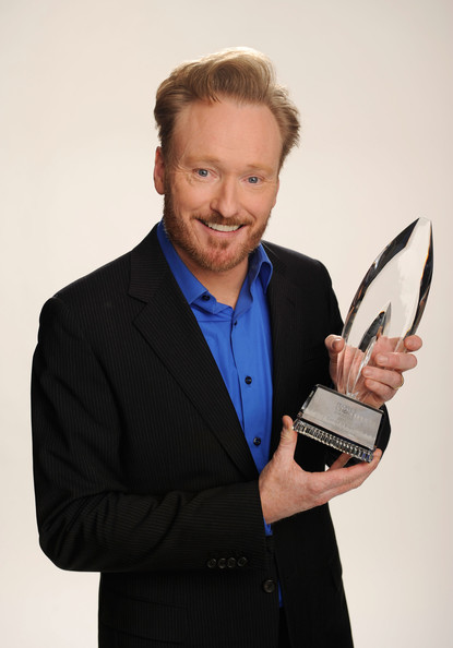 TV host Conan O'Brien, winner of the Favorite Talk Show Host award poses for a portrait during the 2011 People's Choice Awards at Nokia Theatre L.A. Live on January 5, 2011 in Los Angeles, California.