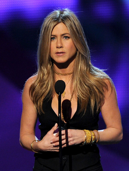 Actress Jennifer Aniston speaks onstage during the 2011 People's Choice Awards at Nokia Theatre L.A. Live on January 5, 2011 in Los Angeles, California.