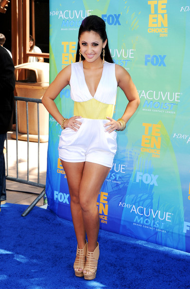 Actress Francia Raisa arrives at the 2011 Teen Choice Awards held at the Gibson Amphitheatre on August 7, 2011 in Universal City, California.