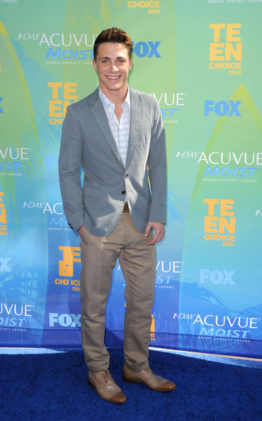 Actor Colton Haynes arrives at the 2011 Teen Choice Awards held at the Gibson Amphitheatre on August 7, 2011 in Universal City, California.