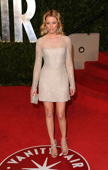 Actress Elizabeth Banks arrives at the Vanity Fair Oscar party hosted by Graydon Carter held at Sunset Tower on February 27, 2011 in West Hollywood, California.