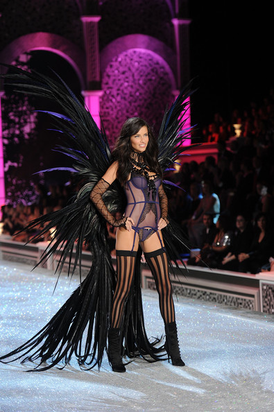 Model Adriana Lima walks the runway during the 2011 Victoria's Secret Fashion Show at the Lexington Avenue Armory on November 9, 2011 in New York City.