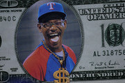 A sign featuring manager Ron Washington of the Texas Rangers is seen prior to Game Five of the MLB World Series against the St. Louis Cardinals at Rangers Ballpark in Arlington on October 24, 2011 in Arlington, Texas.