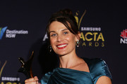 Australian actress Diana Glenn poses with her Award for Best Guest or Supporting Actress in a Television Drama for her role in The Slap at the 2012 AACTA Awards at Sydney Opera House on January 31, 2012 in Sydney, Australia.