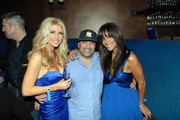 Brande Roderick, Eric Martinez, and Leeann Tweeden attend the 2012 Aces & Angels Friday Night Fantasy Party at ICE Lounge on February 3, 2012 in Indianapolis, Indiana.