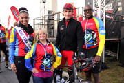 (L-R) Logan West, Lauren Potter, George Hincapie and Carl Lewis attend 2012 Audi Best Buddies Challenge: Washington, D.C. on October 20, 2012 in Washington, DC.