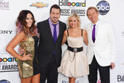 (L-R) Lacey Schwimmer, singer Joey Fatone and dancers Anya Garnis and Carson Kressley arrive at the 2012 Billboard Music Awards held at the MGM Grand Garden Arena on May 20, 2012 in Las Vegas, Nevada.