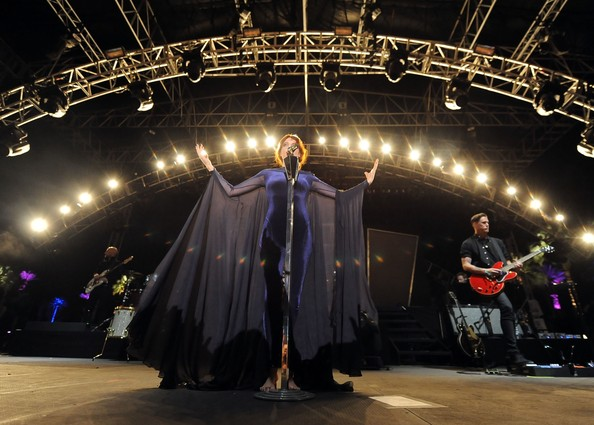 Musician Florence Welch of Florence + The Machine performs during Day 3 of the 2012 Coachella Valley Music & Arts Festival held at the Empire Polo Club on April 15, 2012 in Indio, California.