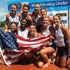 Cox Kendall Schmidt, Kristine O'Brien, Madison Culp, Heidi Robbins, Christine Holm, Gabrielle Cole, Teylor Goestzinger, Amanda Elmore and Emily Walsh of USA celebrate their victory in the Women's Eight Final during Day 5 of the 2012 FISA World Rowing U23 Championships on July 15, 2012 in Trakai, Lithuania.
