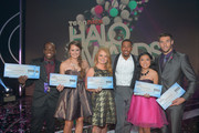 (L-R) 2012 HALO Award Honorees Raymone George, Allyson Ahlstrom, Taylor Waters, TeenNick Chairman and HALO Awards host Nick Cannon, 2012 HALO Award Honorees Kylie Lan Tumiatti and Matt Ferguson attend Nickelodeon's 2012 TeenNick HALO Awards at Hollywood Palladium on November 17, 2012 in Hollywood, California. The show premieres on Monday, November 19th, 8:00p.m. (ET) on Nick at Nite.