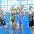 Lisa Norden Anne Haug Photos - In this handout photo released by the International Triathlon Union, Sweden' Lisa Norden, Germany's Anne Haug, Netherlands' Maaike Caelers and Australia's Erin Densham celebrate with champagne at the medal ceremony at the 2012 ITU World Triathlon on September 29, 2012 in Yolohama, Japan. - 2012 ITU World Triathlon Yokohama