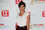Actress and Logie nominee Diana Glenn poses at the TV Week Logie Awards nominations announcement  at the Park Hyatt Hotel on March 18, 2012 in Sydney, Australia.