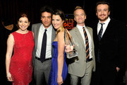"(L-R) Actors Alyson Hannigan, Josh Radnor, Cobie Smulders, Neil Patrick Harris and Jason Segel with the award for ""Favorite Network TV Comedy"" attend the 2012 People's Choice Awards at Nokia Theatre L.A. Live on January 11, 2012 in Los Angeles, California."