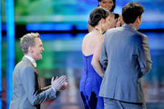 "Actors Neil Patrick Harris, Cobie Smulders, and Josh Radnor accept Favorite Network TV Comedy Award for ""How I Met Your Mother"" onstage at the 2012 People's Choice Awards at Nokia Theatre L.A. Live on January 11, 2012 in Los Angeles, California."