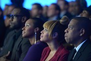 2012 Sportsman of the Year LeBron James, Savannah Brinson, Beyonce, and Jay-Z attend the 2012 Sports Illustrated Sportsman of the Year award presentation at Espace on December 5, 2012 in New York City.