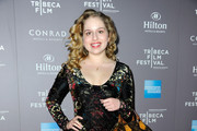 Actress Allie Grant arrives to the 2010 American Express Tribeca Film Festival LA Reception  at The Beverly Hilton Hotel on March 19, 2012 in Beverly Hills, California.