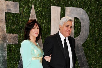 Jay Leno Mavis Leno 2012 Vanity Fair Oscar Party Hosted By Graydon Carter - Arrivals