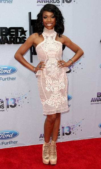 Actress/singer Brandy Norwood  attends the 2013 BET Awards at Nokia Theatre L.A. Live on June 30, 2013 in Los Angeles, California.