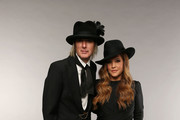 Musician Lisa Marie Presley (R) and Michael Lockwood pose at the Wonderwall portrait studio during the 2013 CMT Music Awards at Bridgestone Arena on June 5, 2013 in Nashville, Tennessee.