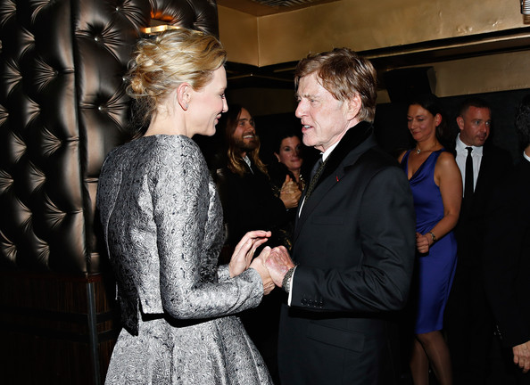 Actors Cate Blanchett and Robert Redford attend the 2013 New York Film Critics Circle Awards Ceremony at The Edison Ballroom on January 6, 2014 in New York City.