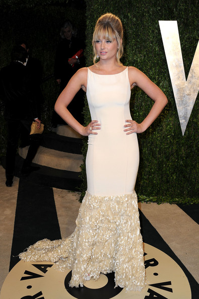 Model Genevieve Morton arrives at the 2013 Vanity Fair Oscar Party hosted by Graydon Carter at Sunset Tower on February 24, 2013 in West Hollywood, California.