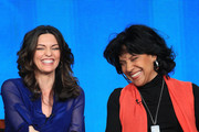"""Actors Alana De La Garza (L) and Phylicia Rashad speak onstage at the """"Do No Harm"""" panel session during the NBCUniversal portion of the 2013 Winter TCA Tour- Day 3 at the Langham Hotel on January 6, 2013 in Pasadena, California."""
