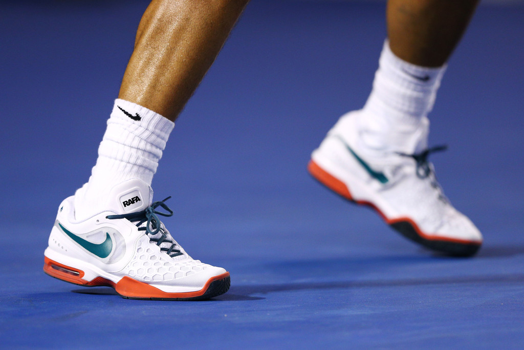 Nadal Open Australian Nike Shoes Wearing Rafael At Pink Larry 08nwmN