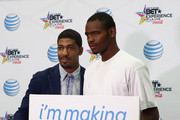 Fonzworth Bentley (L) attends the Fan Fest - AT&T, Geico, Poetic Jeans, Sneaker Con, Tennis, Xbox, Health And Wellness, Nickelodeon, Centric Centrified,  LA to the Bay during the 2014 BET Experience At L.A. LIVE on June 29, 2014 in Los Angeles, California.