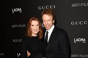 Linda Bruckheimer and producer Jerry Bruckheimer attend the 2014 LACMA Art + Film Gala honoring Barbara Kruger and Quentin Tarantino presented by Gucci at LACMA on November 1, 2014 in Los Angeles, California.
