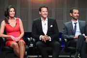 (L-R) Actors Alana de la Garza, Ioan Gruffudd and Executive producer Matt Miller speak onstage at the 'Forever'' panel during the Disney/ABC Television Group portion of the 2014 Summer Television Critics Association at The Beverly Hilton Hotel on July 15, 2014 in Beverly Hills, California.
