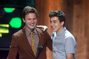 Actors Ansel Elgort (L) and Nat Wolff onstage at the 2014 Young Hollywood Awards brought to you by Samsung Galaxy at The Wiltern on July 27, 2014 in Los Angeles, California. The Young Hollywood Awards will air on Monday, July 28 8/7c on The CW.